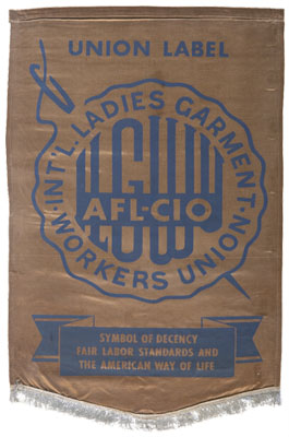 ILGWU union label banner