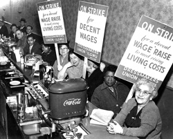 Women on strike for decent wages