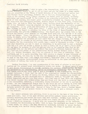 Scanned image of the letter