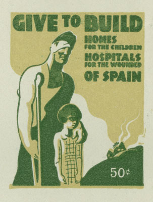 Trade Union Spanish Relief Stamps, 1937