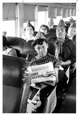 On the bus to the March on Washington for Jobs and Freedom, August 28, 1963