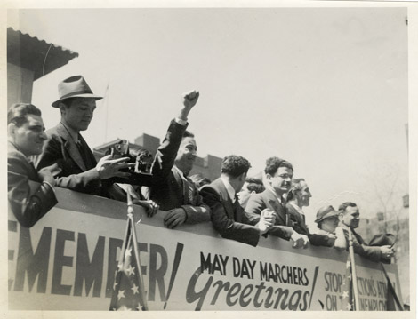 ILGWU members at a May Day Parade