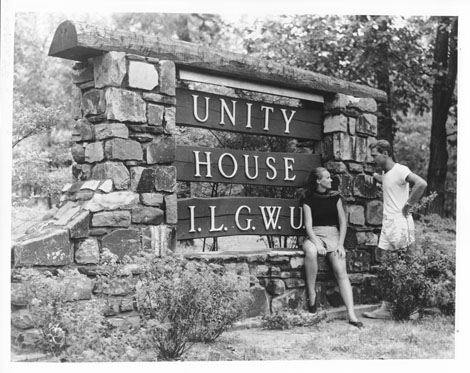 Main gate at Unity House, Forest Park, Pennsylvania
